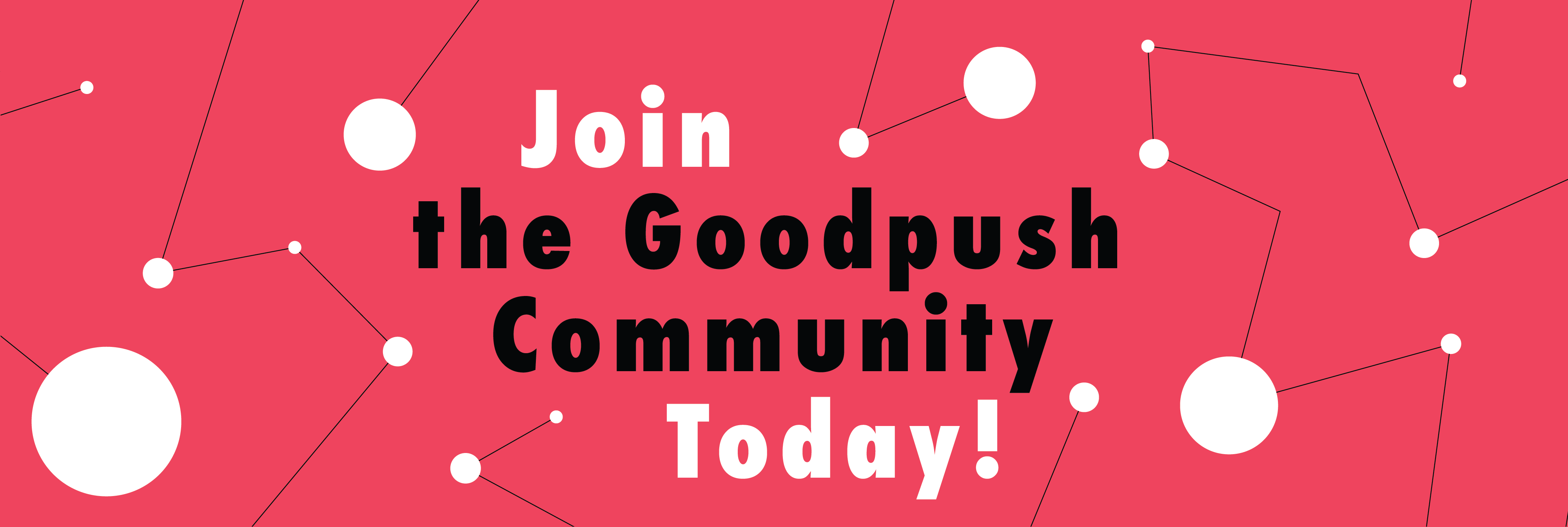 Banner to register as Goodpush member