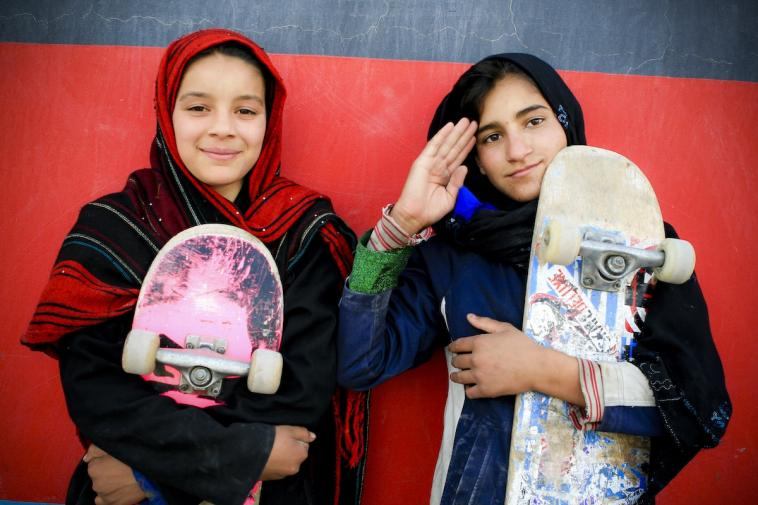 Female youth leaders at Skateistan Kabul 2010